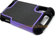 for Motorola atrix 4g mb860 rugged case triple layer soft hard purple black