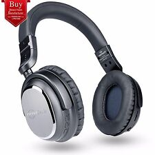 Naztech i9 BT Active Noise Cancelling Bluetooth On-Ear Headphones Black- 2nd GEN