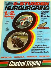 9. Int. ADAC 8-Stunden ADAC 1.-2. Sept 84 Motorräder WM Nürburgring VI01 å *