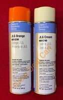 JLG Boom Lift Orange & Cream Spray Paint High Solids Greater Coverage 2 Pack