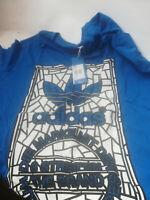 Adidas Originals Tongue Win teeblue T-Shirt, grau mit Motiv - B-Ware Gr. L