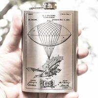 8oz Steampunk Flying Man Flask L1