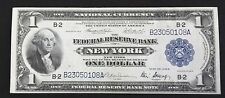 1918 $1 FEDERAL RESERVE BANK NOTE NEW YORK DISTRICT!!!
