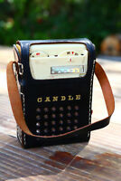 RARE! Vintage Candle 8 transistor radio 60s Working great small Cracks CLEAN