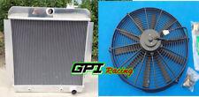 "3ROW ALUMINUM RADIATOR + 16"" Fan FOR 1955-1959 CHEVY PICKUP TRUCK V8 56 57 AT/MT"