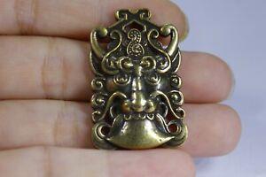 3.2 CM China Brass animal Cattle Pendant Brass Pendant Amulet