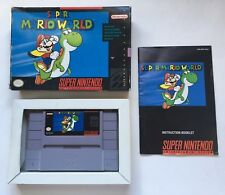 Super Nintendo SNES Super Mario World Original Release Complete in Box CIB