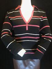 DASH Women's Soft Cotton Striped Long Sleeve Blouse Top,  UK 14
