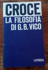 LA FILOSOFIA DI G.B. VICO Opere di Benedetto Croce 1°ediz. Econ. LATERZA 1965
