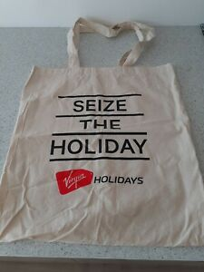 Promotional VIRGIN HOLIDAYS Cloth Canvas Tote Shopping Bag