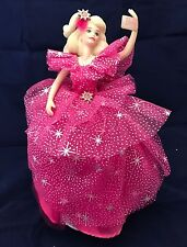 Rare Lmt Ed Barbie Porcelain Music Box Enesco 1990 Happy Holidays Original Tag