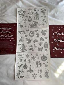 Christmas Window Sticker Decorations. Pack Of Three