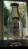 "1952 ""CENTRAL ILLINOIS DAIRY PRODUCTS COMPANY"" BOKER 1 Quart Glass Milk Bottle"