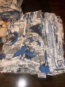 Pottery Barn Kits DC Comics Batman Comic Strip Print Full Sheet Set Retired NR