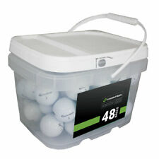 48 TaylorMade TP5 Golf Balls AAAAA *No Markings or Logos**In a Free Bucket!*
