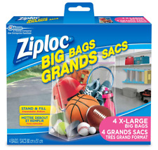Ziploc XL Big Bags (4 Bags Per Pack) Ziploc Big Storage Bag Shipped Unboxed