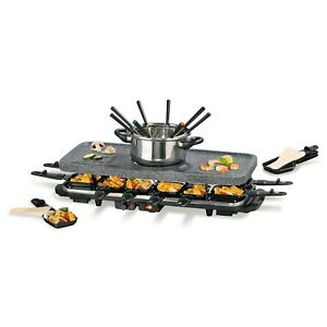 Raclette Fondue Set 12 Personen Grill Tischgrill Elektrogrill Raclettegrill XXL