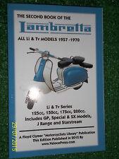 BOOK OF LAMBRETTA Li & Tv + GP SPECIAL SX J & STARSTREAM SCOOTERS MANUAL 1957-70