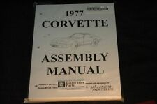 1977 CORVETTE C3 ASSEMBLY MANUAL 100'S OF PAGES OF DETAILS & ILLUSTRATIONS