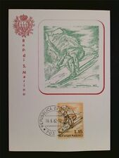 San MARINO MK 1962 sciatore sci skiing maximum carta carte MAXIMUM CARD MC c7790