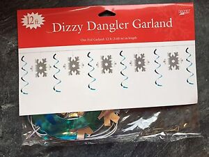 Snowflakes Christmas Winter Banner Swirl Garland Decoration CHEAP CLEARANCE