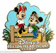 Disney's Hilton Head Island Resort: Mickey & Minnie 1990s Logo Pin