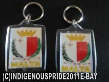 Malta Flag/Maltese/Malta Flag Keyring 4 your.Car,boat,caravan keys-2 keyrings