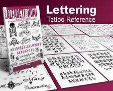 CALLIGRAPHY LETTERS Writing Design Tattoo Flash Book 66-pages