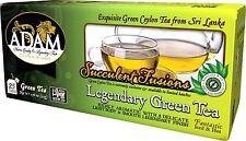 Adam Tea - Legendary Green Ceylon Tea 25 Count Double Chamber 2g Tea Bags
