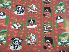 Christmas Build A Bear Wrapping Paper /Gift Wrap 32 Sq Ft