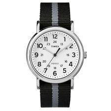 ebfbbd7d6f16 Para hombre Timex Indiglo Weekender Nylon Negro Reloj con Cuadrante Blanco  De Lona TW2P72200