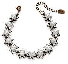 Modeschmuck-Armbänder im Ketten-Stil aus Metall-Legierung mit Perlen (Imitation)