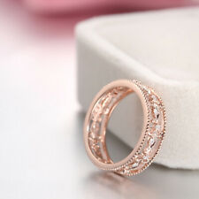 More Revealing Anniversary Engagement Band Natural Diamonds Solid 10K Rose Gold