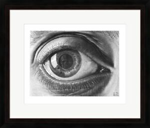 "Framed Art, ""The Eye"", by M.C. Escher, 32x26"