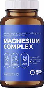Magnesium 60 Tabletten HOCHDOSIERT Komplex - Citrat+Glycinat - Mineralien Neu