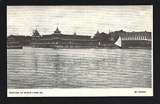 Clear Lake Iowa IA c1908 Downtown Pavillion from Lake - Tour and Sail Boats