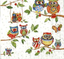 2 pcs Single Paper Napkins For Decoupage Craft Owls