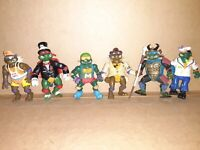 1990-1992 Playmates TMNT Action Figures Lot Of 6