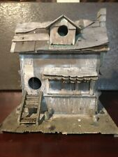 Handmade Rustic Cabin wooden bird house - one of a kind