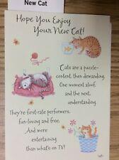 "NEW CAT card ""Hope You Enjoy Your New CAT!  Hallmark 100X5"