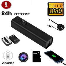 Mini 1080P HD Outdoor Hidden Spy Camera Video Recorder Cam+ 2000mAh Power Bank