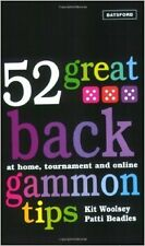 52 Great Backgammon Tips: at Home, Tournament and Online NEW Paperback Patti