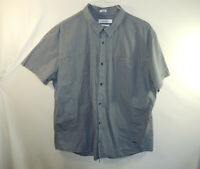Calvin Klein Mens Short Sleeve Casual Oxford Dress Shirt Slim Fit Size 2XL XXL