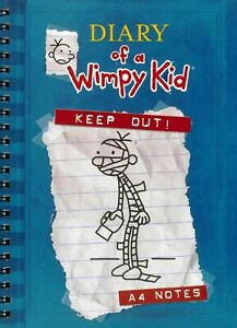 Diary Of A Wimpy Kid A4 Notebook