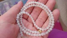 Kette weißer Labradorit/ Regenmondstein, Perlen: 5 mm, Länge: 46 cm