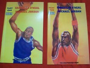 SHAQUILLE O'NEAL VS MICHAEL JORDAN 1 2 COMIC SET COMPLETE BASKETBALL 1993 VF/NM