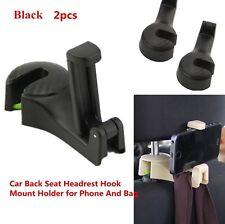 2X For Honda Car Back Seat Headrest Hook Mount Holder for Mobile Phone & Bag