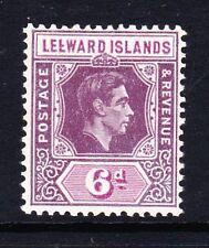 LEEWARD ISLANDS 1938-51 6d WITH BROKEN 'E' FLAW SG 109ab MINT.