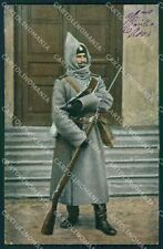 Military Russia Russian Soldier Types postcard XF3632