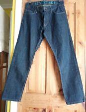 "Men's NEXT SLIM Dark Blue Zip Fly Jeans Size 32S 30"" Leg Excellent UK p&p free"